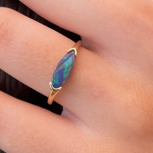 Chiara Lightning Ridge Opal Ring
